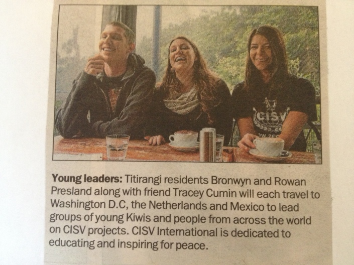 Rowan, Bronwyn and Tracey in a local newspaper.