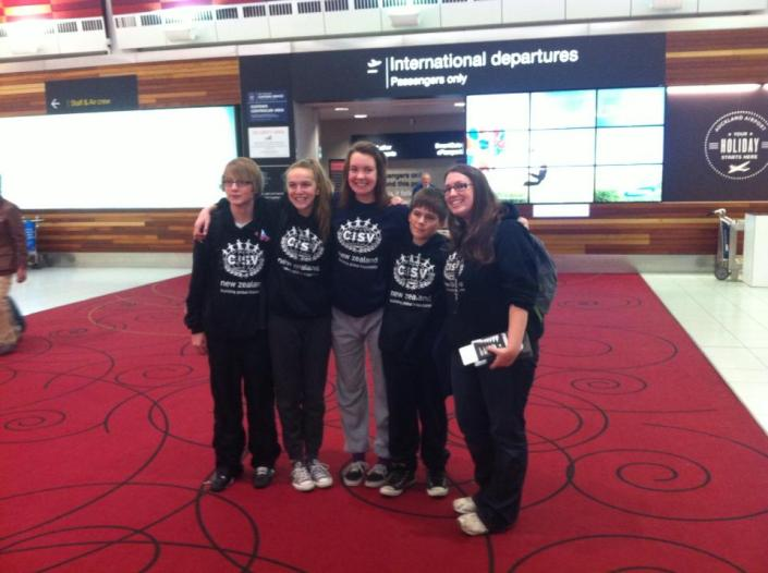 NZ delegation with Bronwyn as the leader off to Washington for Step Up Camp '13.