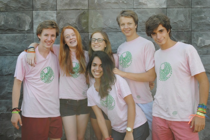 Mackenzie with other JCs from Brazil, Latvia, Norway and France.